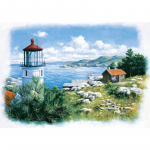 Puzzle 500 piese Seafront Lighthouse Peter Motz