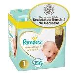 Scutece Pampers Premium Care XXL Box Nou Nascut Marimea 1, 2-5 kg, 156 buc
