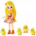 Set Enchantimals by Mattel Dinah Duck With Slosh And Family Papusa cu 4 figurine