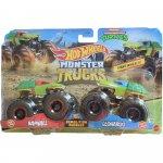 Set Hot Wheels by Mattel Monster Trucks Demolition Doubles Raphael vs Leonardo