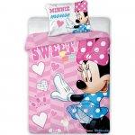 Set lenjerie pat copii Minnie Sweet 100x135 + 40x60 SunCity FRA541843