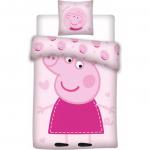 Set lenjerie pat copii Peppa Pig 100x135 + 40x60 SunCity BRM000188