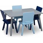 Set masuta si 4 scaunele Grey/Blue