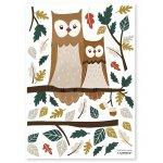 Sticker A3 (29 7x42cm) Owl Family