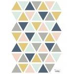 Sticker A3(29 7x42cm) Triangles Girl
