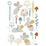 Sticker A3(29 7x42cm) Woodl&Mice