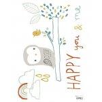 Sticker A3(29 7x42cm) Woodl&Owl