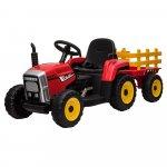 Tractor electric 12V cu remorca si telecomanda Nichiduta Farmer Red