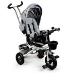 Tricicleta cu sezut rotativ Ecotoys gri