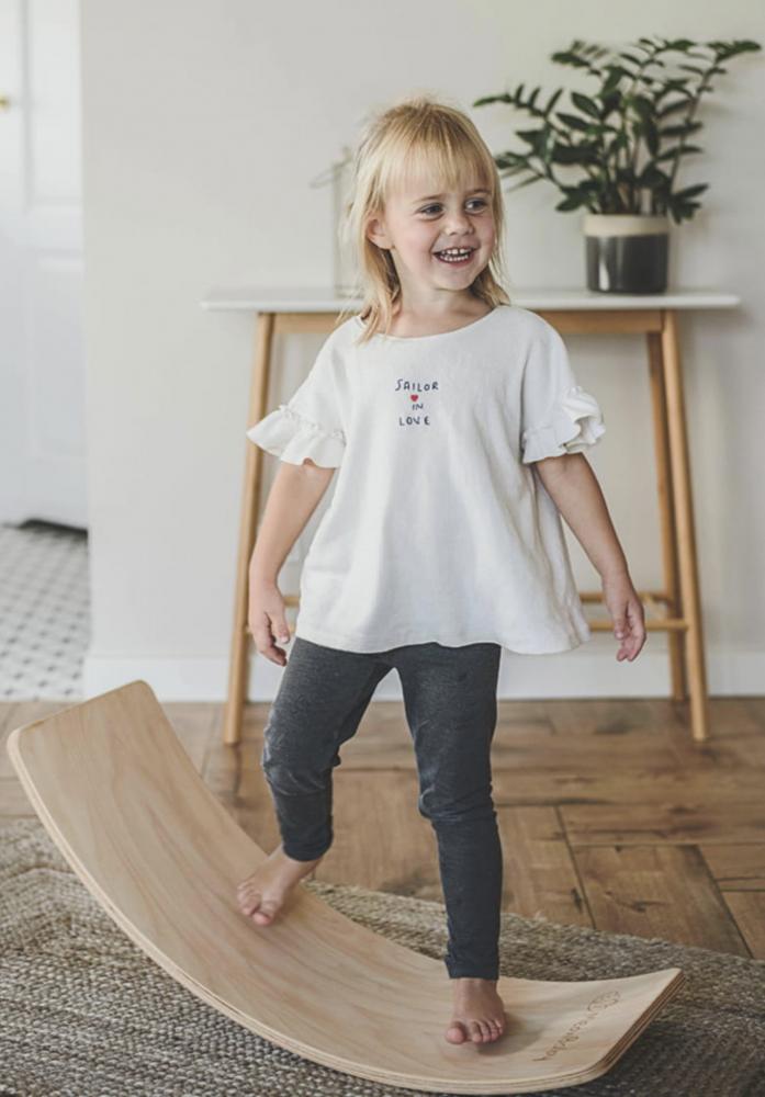 Balance board Placa de echilibru din lemn pentru copii MeowBaby - 4