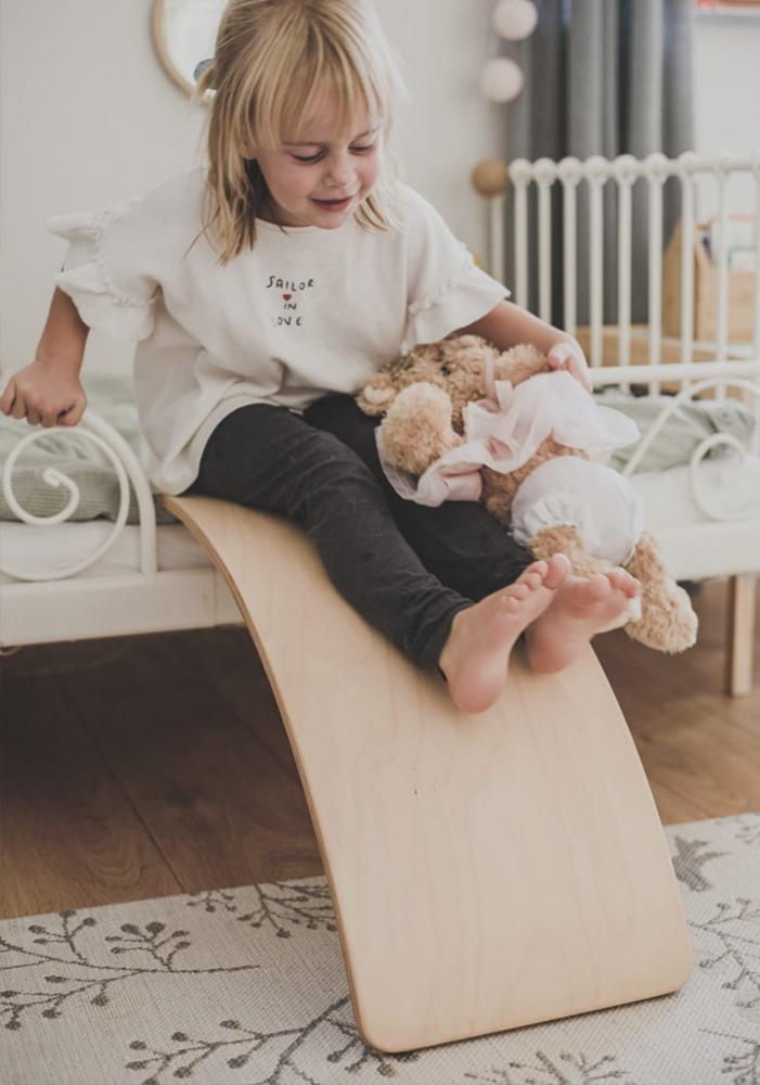 Balance board Placa de echilibru din lemn pentru copii MeowBaby - 5