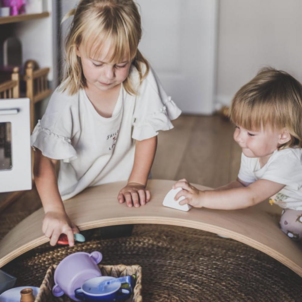 Balance board Placa de echilibru din lemn pentru copii MeowBaby - 6