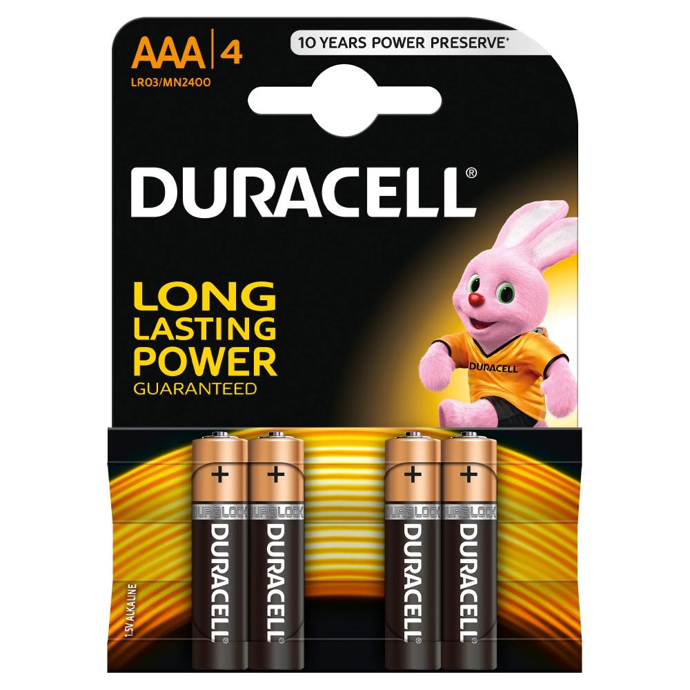 Baterii alcaline Duracell AAAK4, LR03, 4 buc