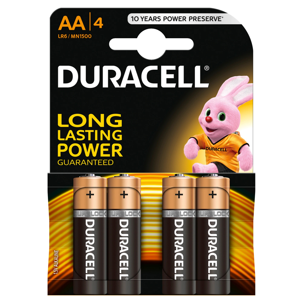 Baterii alcaline Duracell Basic AAK4 LR06, 4 buc