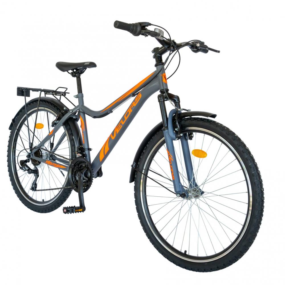 Bicicleta City Velors V2633B 26 inch echipare Shimano 18 viteze griportocaliu