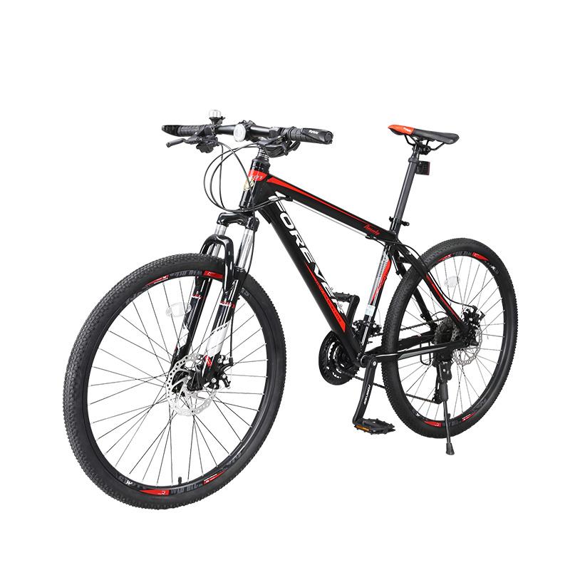 Bicicleta MTB-HT Forever F24T1B roata 24 cadru aluminiu 27 viteze negrurosu
