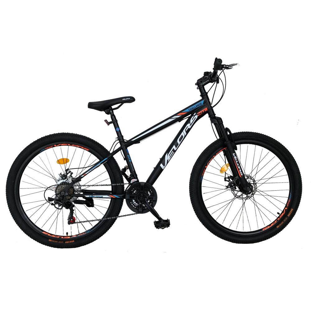 Bicicleta de munte Velors V2610A roata 26 frana disc 18 viteze negrualbportocaliu