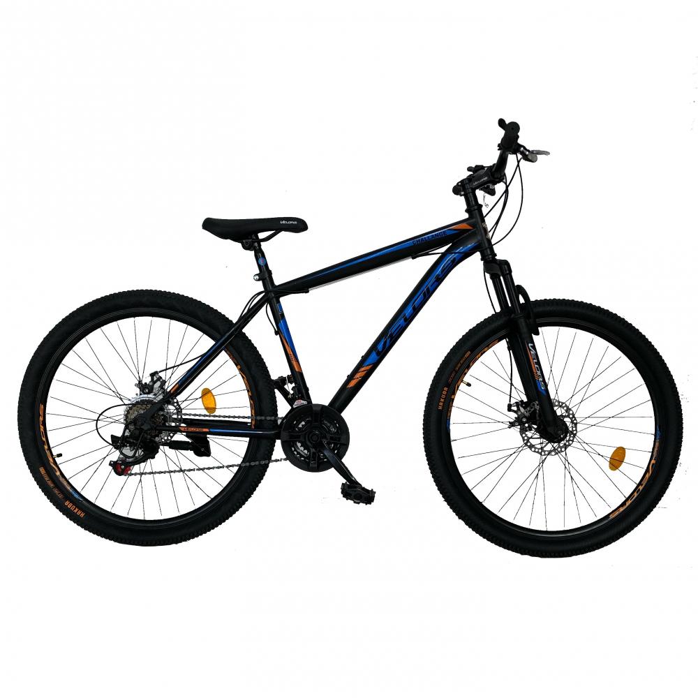 Bicicleta de munte Velors V2710A roata 27.5 frana disc 18 viteze negrualbastruportocaliu