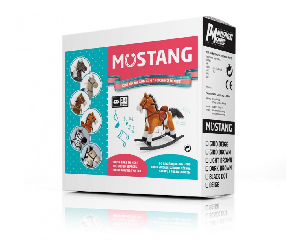 Calut Balansoar cu sunete si miscare Mustang Dark Brown imagine