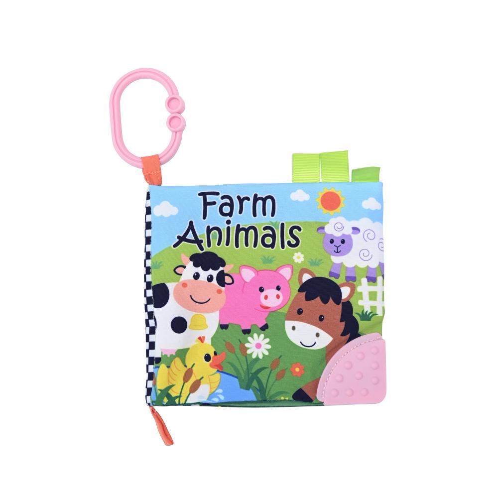 Carticica interactiva pentru bebelusi Ferma animalelor