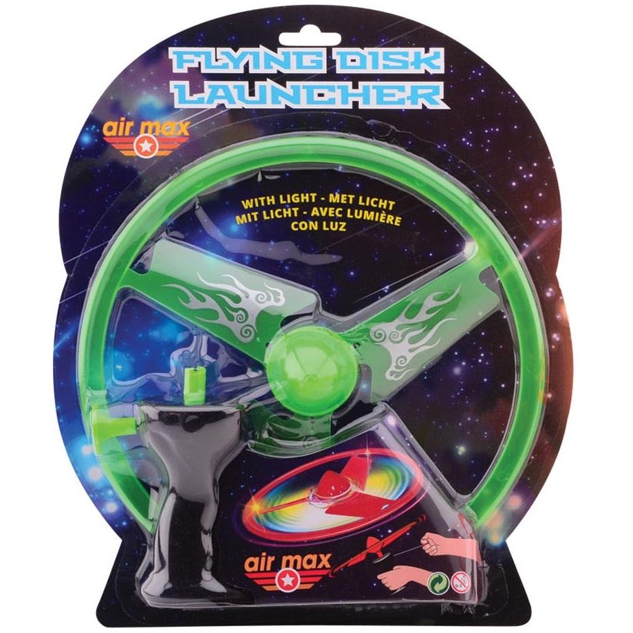 Disc zburator luminos cu dispozitiv de lansare 25 cm