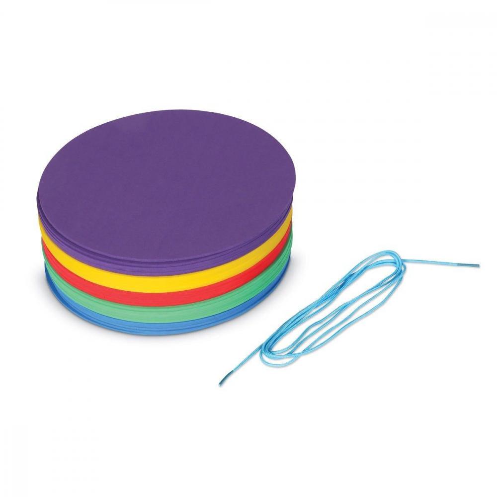 Discuri colorate pentru distantare sociala