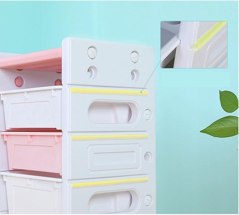 Dulap modular pentru depozitare jucarii Nichiduta Storage Box Pink imagine
