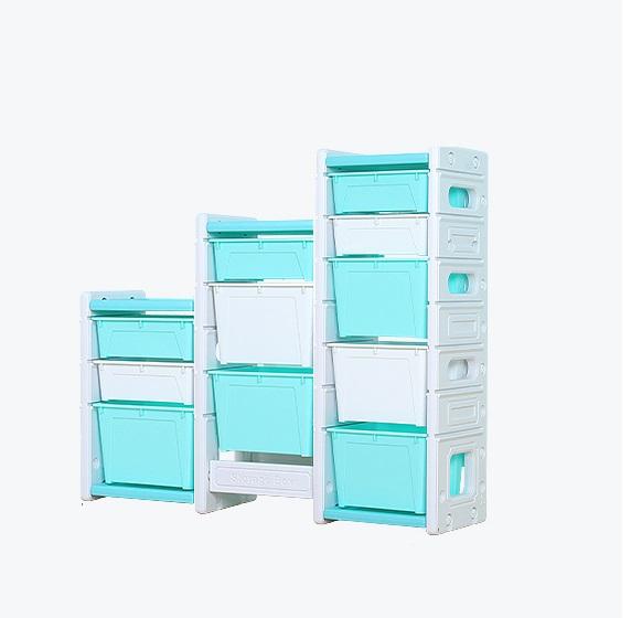 Dulap modular pentru depozitare jucarii Nichiduta Storage Box Blue