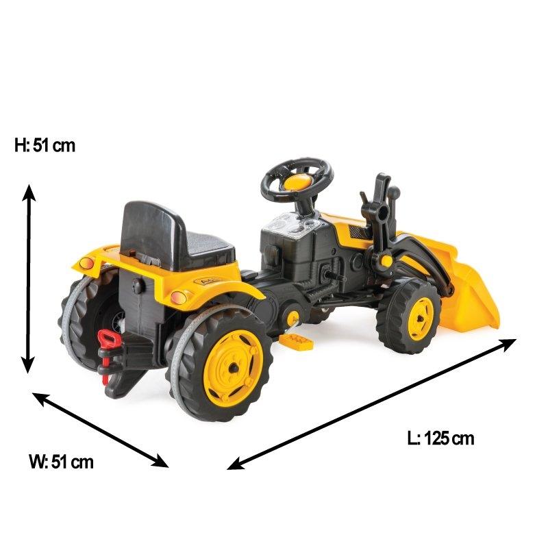 Excavator cu pedale, cupa si remorca Pilsan Active galben - 4