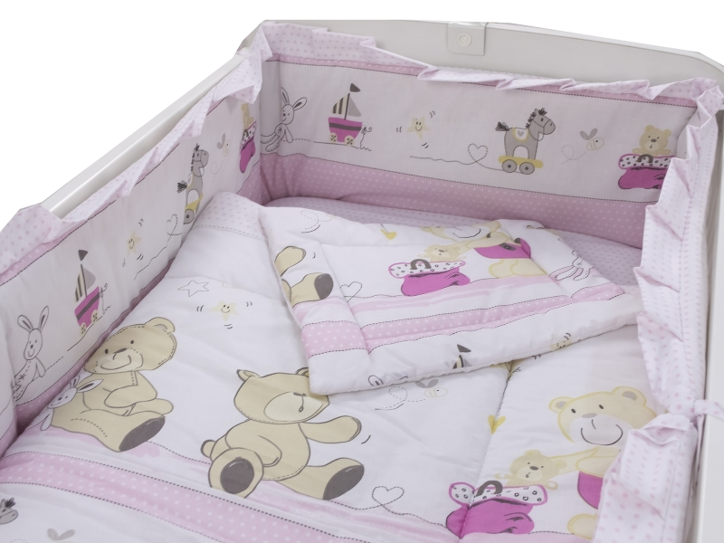 Lenjerie Teddy Play Pink M2 4 piese 140x70