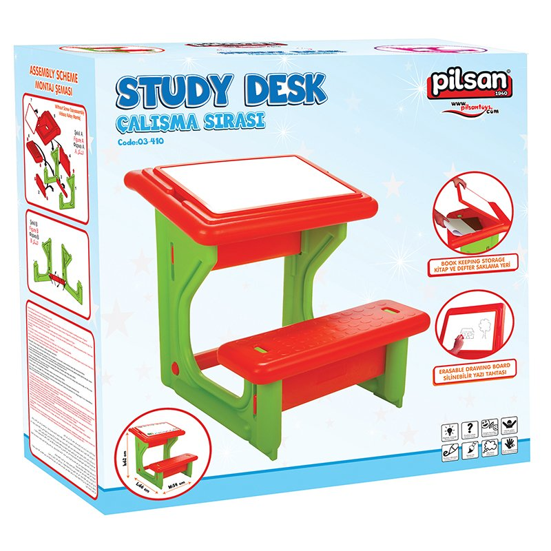 Masuta pupitru de studiu si desen Study Desk Blue