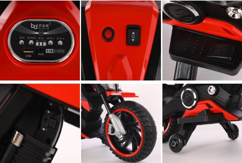 Motocicleta electrica 12V Nichiduta MTK Yellow - 4