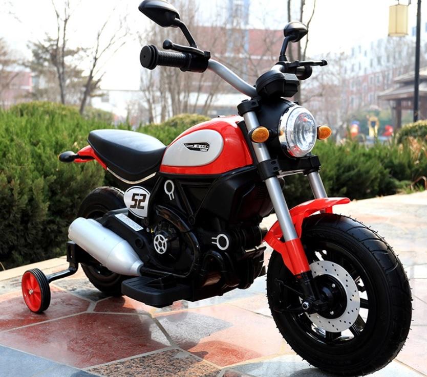 Motocicleta electrica cu roti gonflabile Nichiduta Rider Red - 6