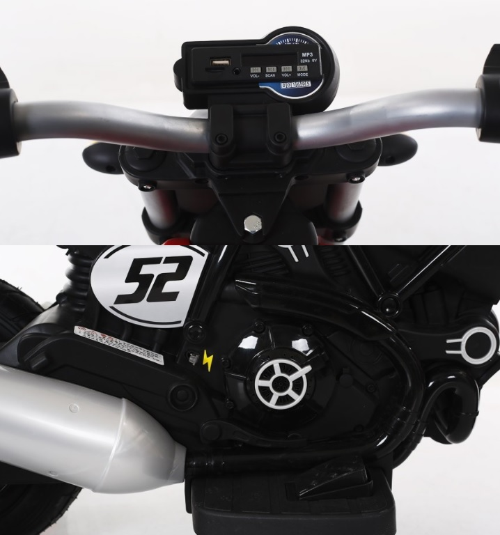 Motocicleta electrica cu roti gonflabile Nichiduta Rider Red - 8