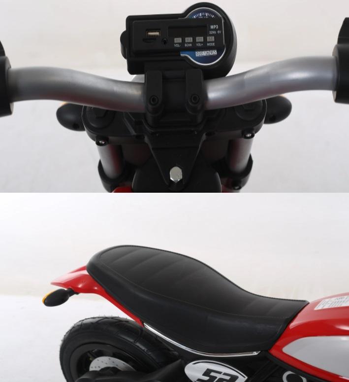 Motocicleta electrica cu roti gonflabile Nichiduta Rider Red - 9