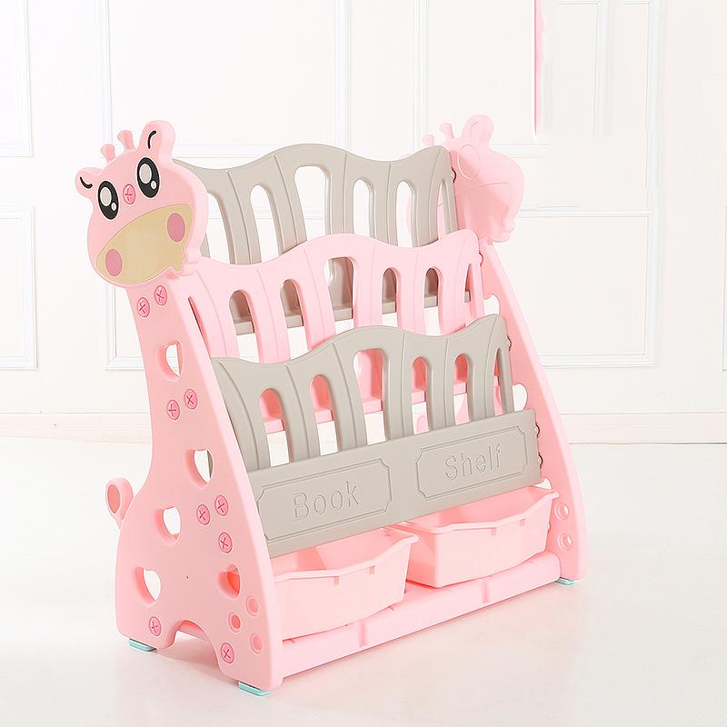 Organizator pentru carti si jucarii Nichiduta Giraffe Pink imagine