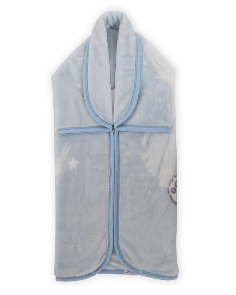 Paturica pentru infasat Baby Wrap Polar Bear Blue