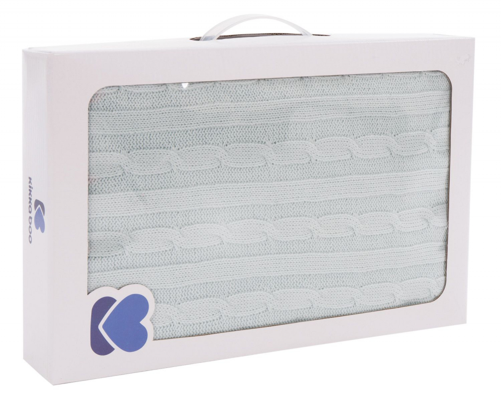 Paturica Tricotata Din Bumbac 75 X 100 Cm Kikkaboo Mint