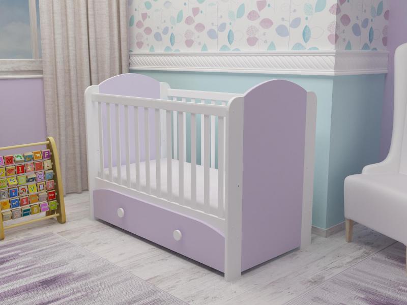 Patut cu sertar Miki alb-violet D121 imagine