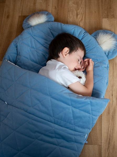 Sac de dormit Dream Catcher transformabil in salteluta Jeans 170x75cm