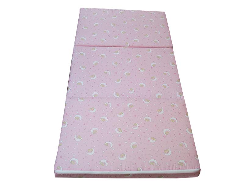 Saltea pliabila copii spuma poliuretanica (burete) roz imagine