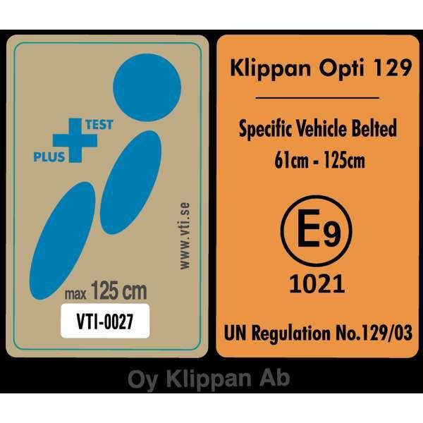 Scaun auto Klippan OPTI129 i-Size Rearfacing 125 cm32 Kg Freestyle