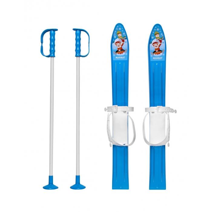Schiuri copii Marmat 60 cm albastru