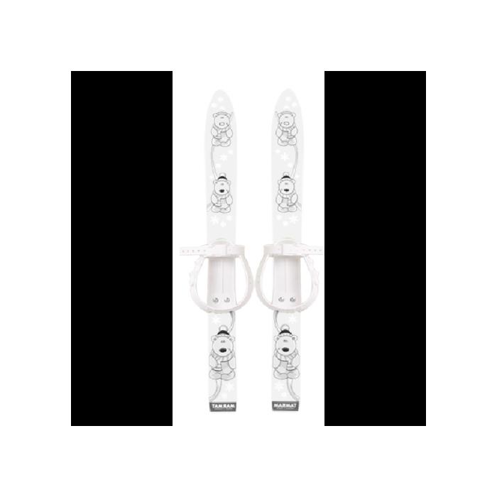 Schiuri copii Marmat 70 cm alb