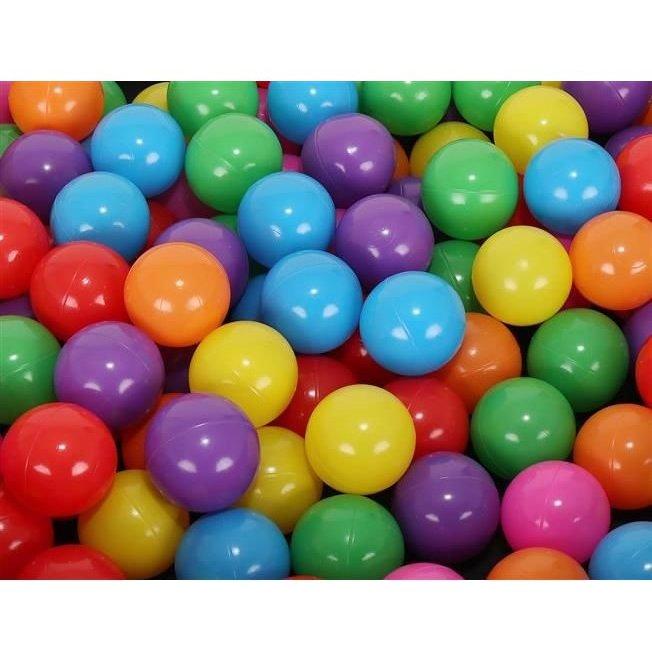 Set 200 bile din plastic colorate 5 cm Malatec