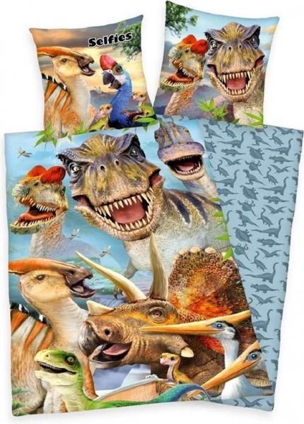 Set lenjerie 2 piese dinozaur