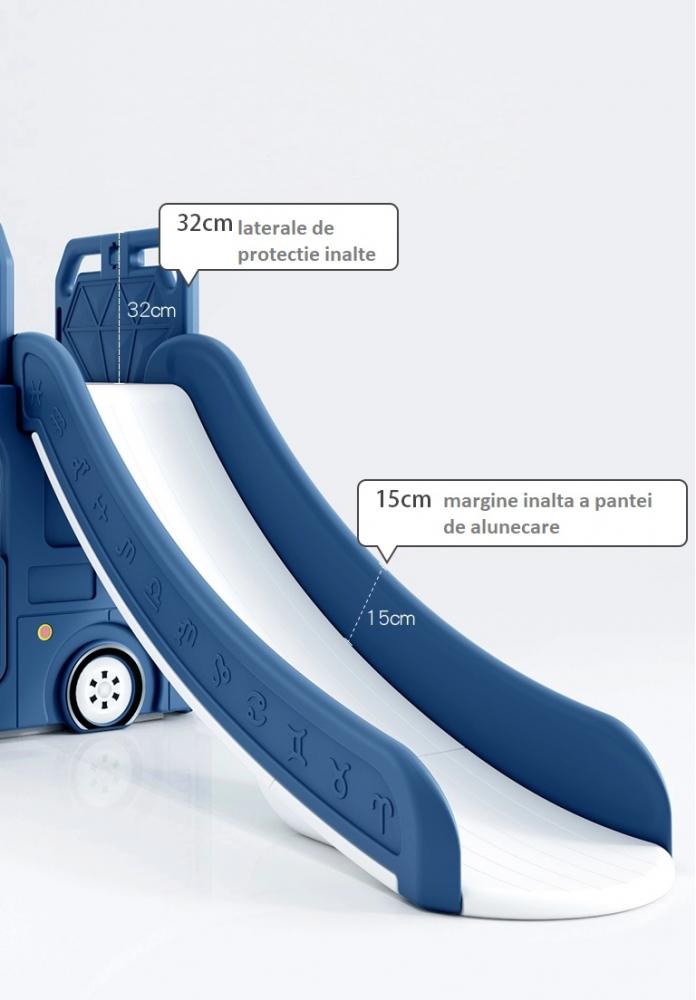 Spatiu de joaca 4 in 1 Nichiduta Happy Bus Blue imagine