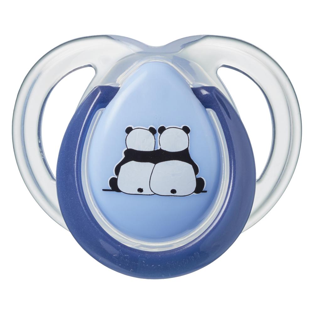 Suzete ortodontice Tommee Tippee Anytime 0-6 luni Ursuleti Panda Albastru-Alb