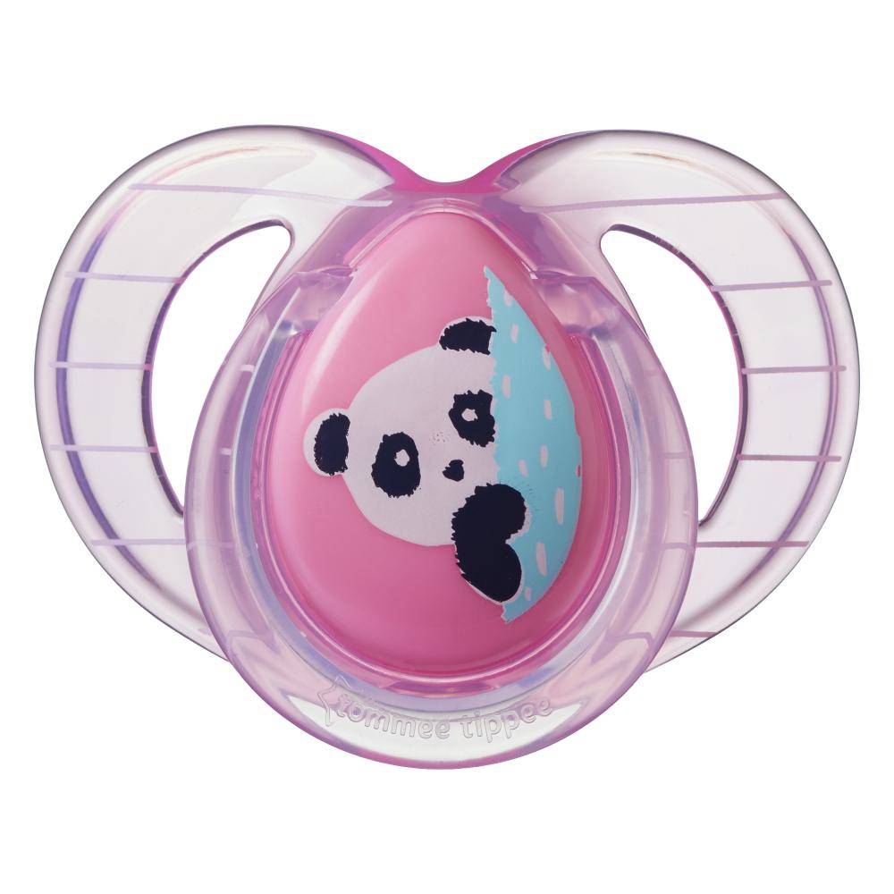 Suzete ortodontice Tommee Tippee Anytime 6-18 luni Ursuleti Panda RozAlb