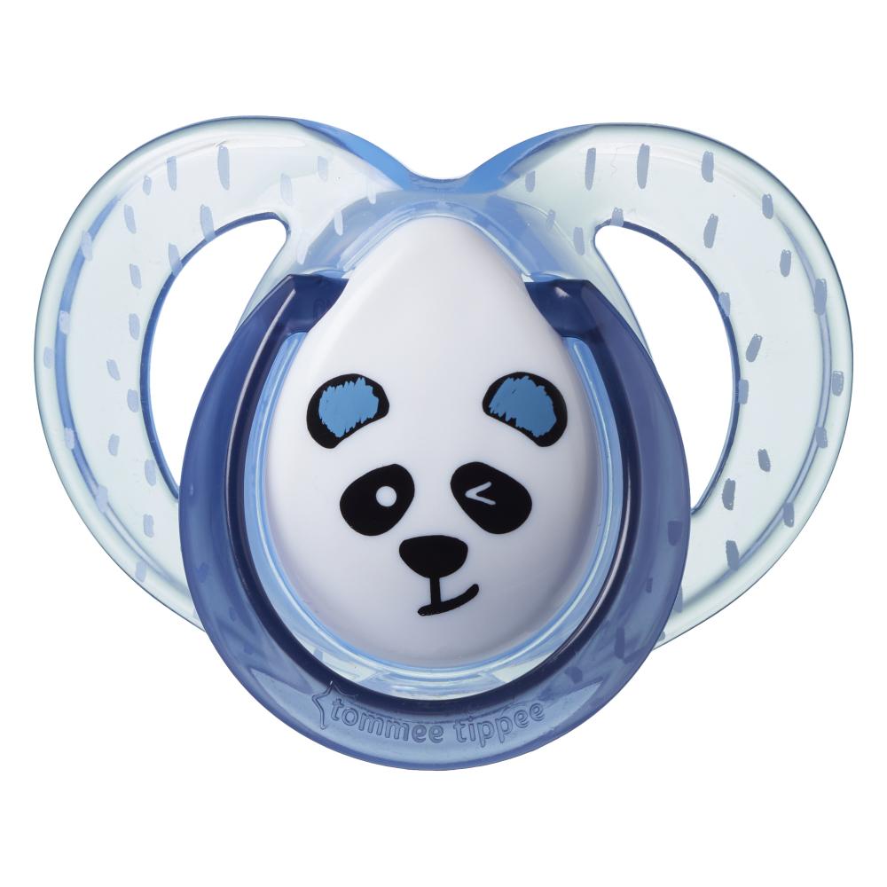 Suzete ortodontice Tommee Tippee Anytime 6-18 luni Ursuleti Panda VerdeAlb